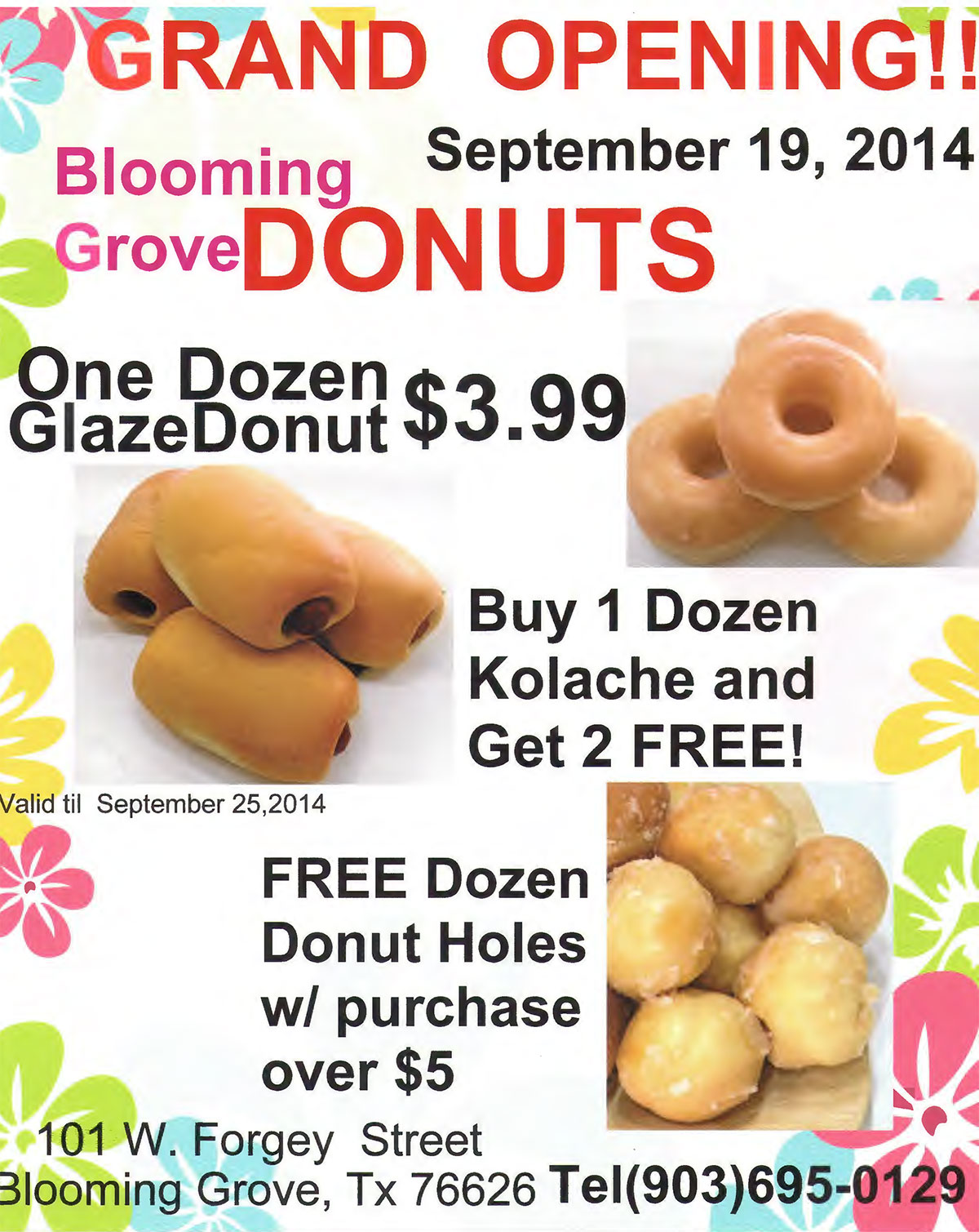 BG Gets new Donut Shop - Blooming Grove Texas\'