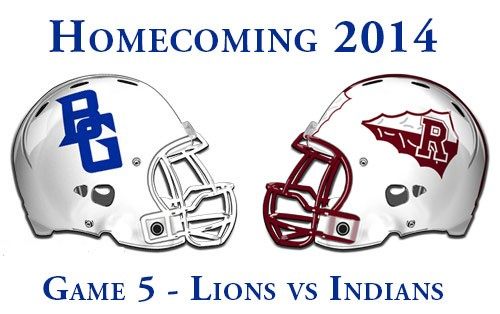Homecoming Week in Blooming Grove. Game 5 BG Lions vs Riesel Indians.