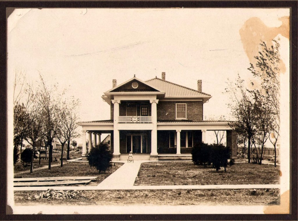"Photo of ""The Columns"" home just after construction in 1914"